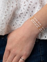 Caryn Lawn Triple Strand Bracelet - Wht/Gld