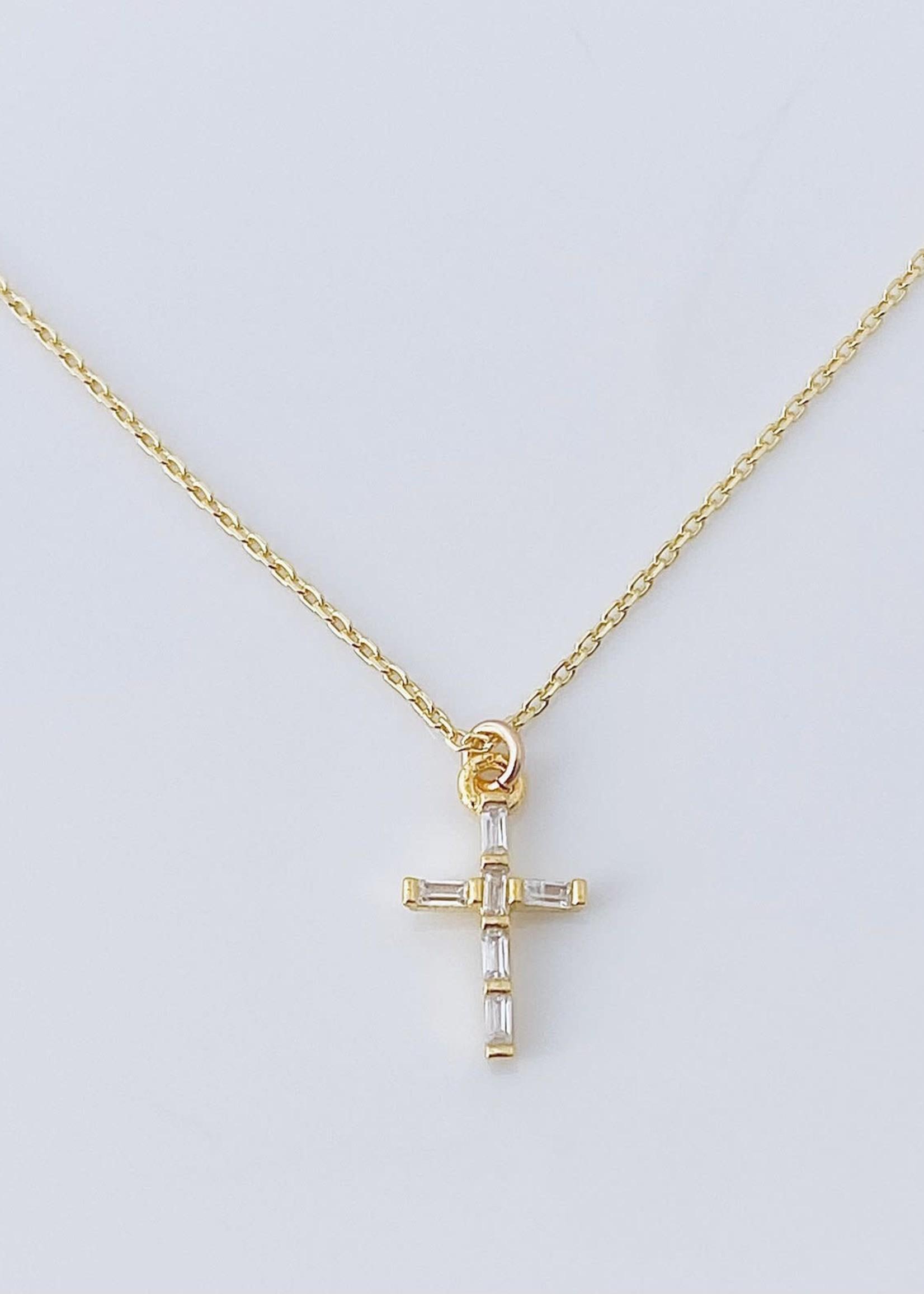 Baguette Cross Necklace