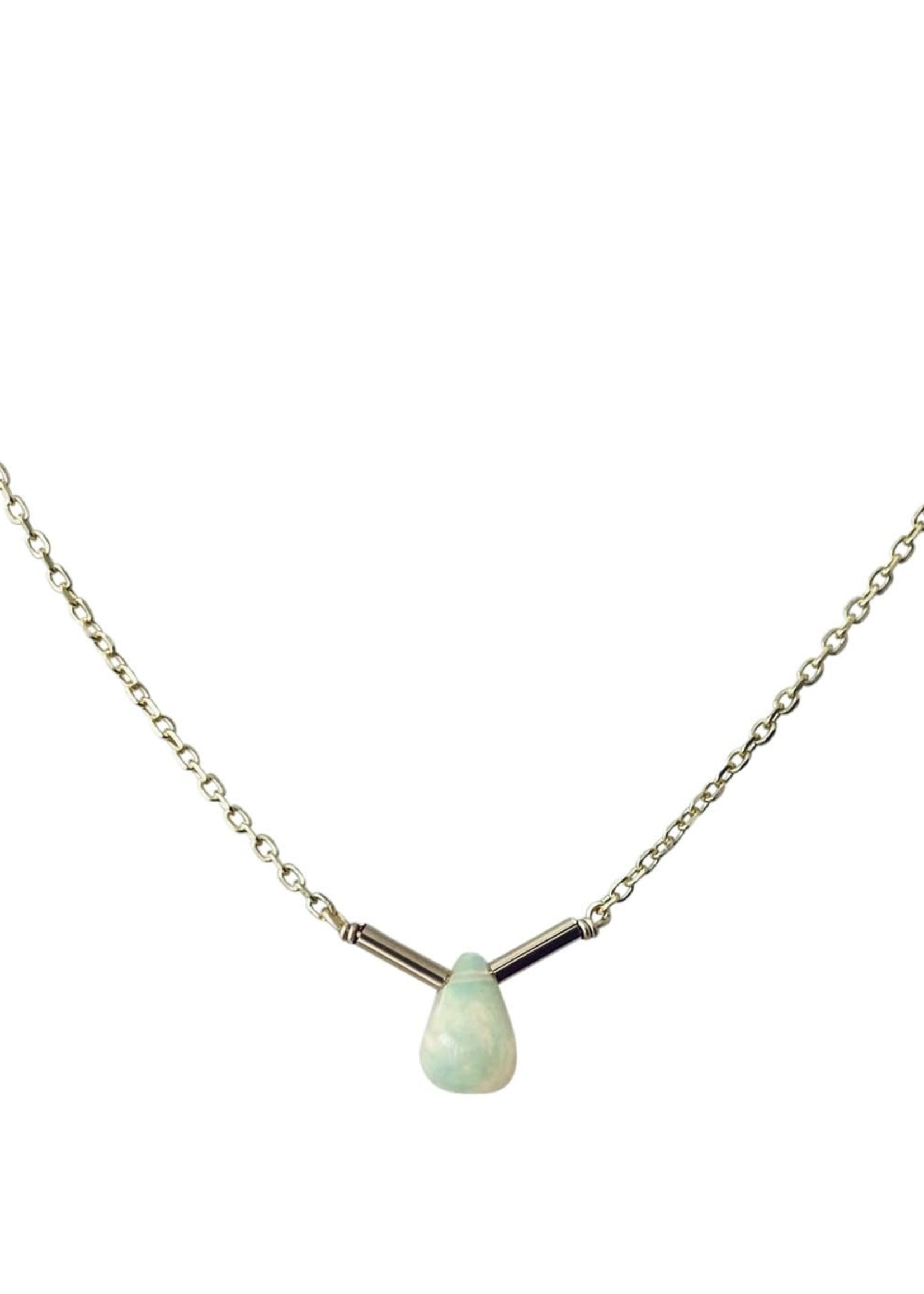 modern opus Opal Bar Necklace