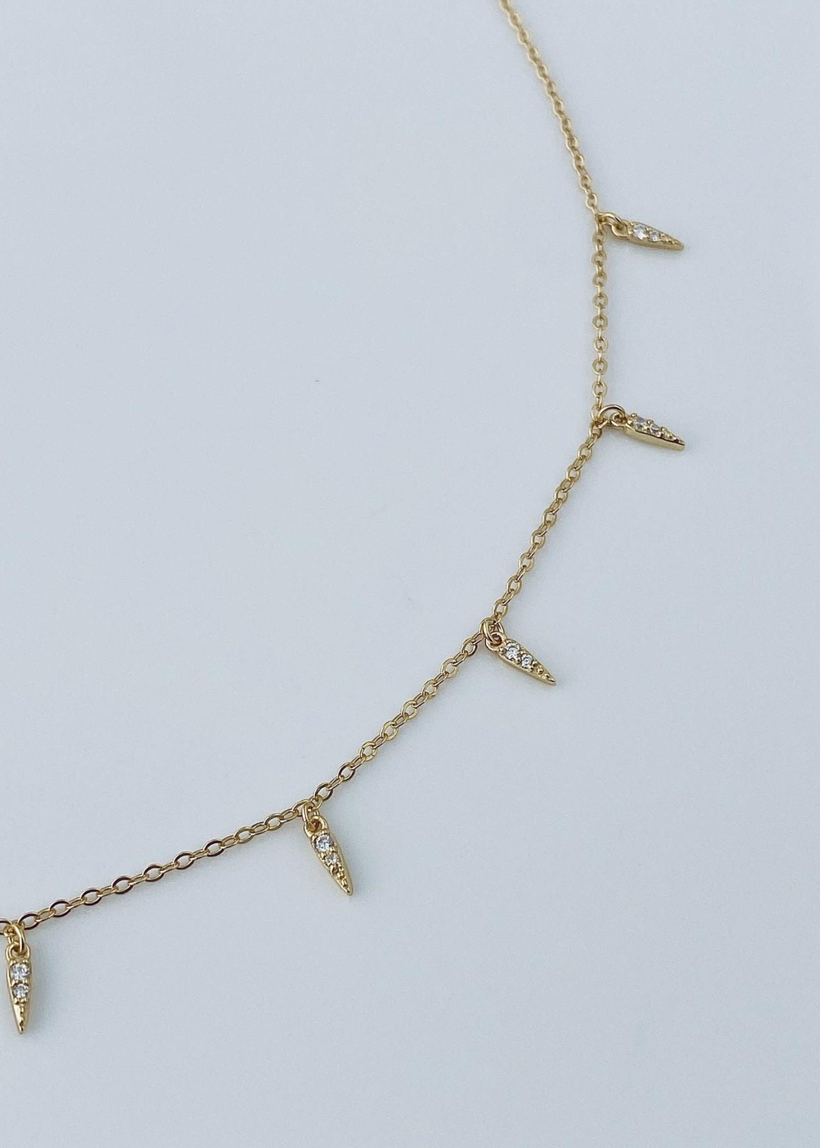 modern opus Multi Spike Necklace