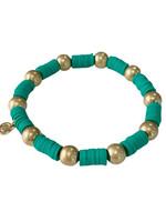 Caryn Lawn Seaside Gold Ball- Turquoise Green