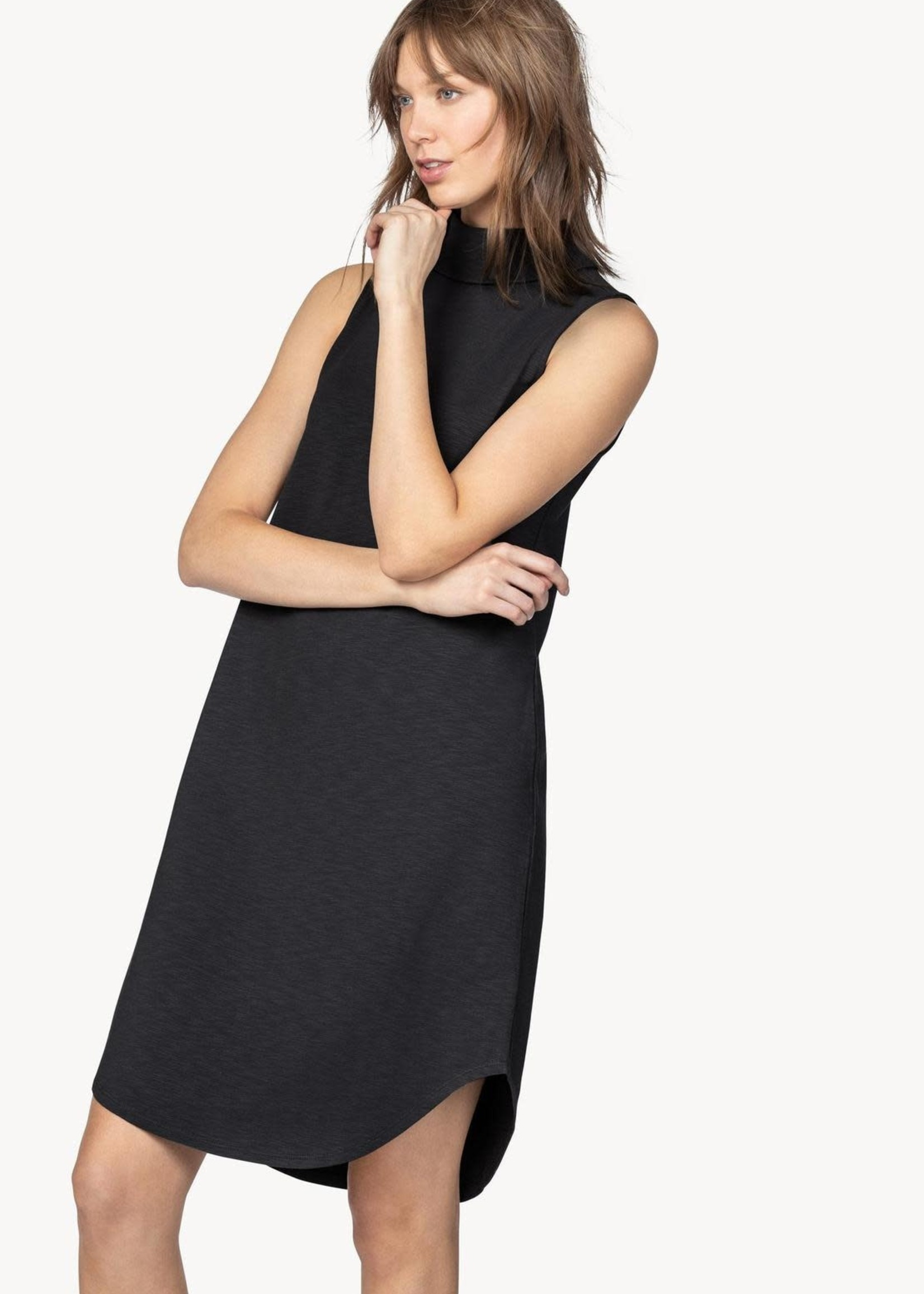 Lilla P Mock Neck Shirttail Dress