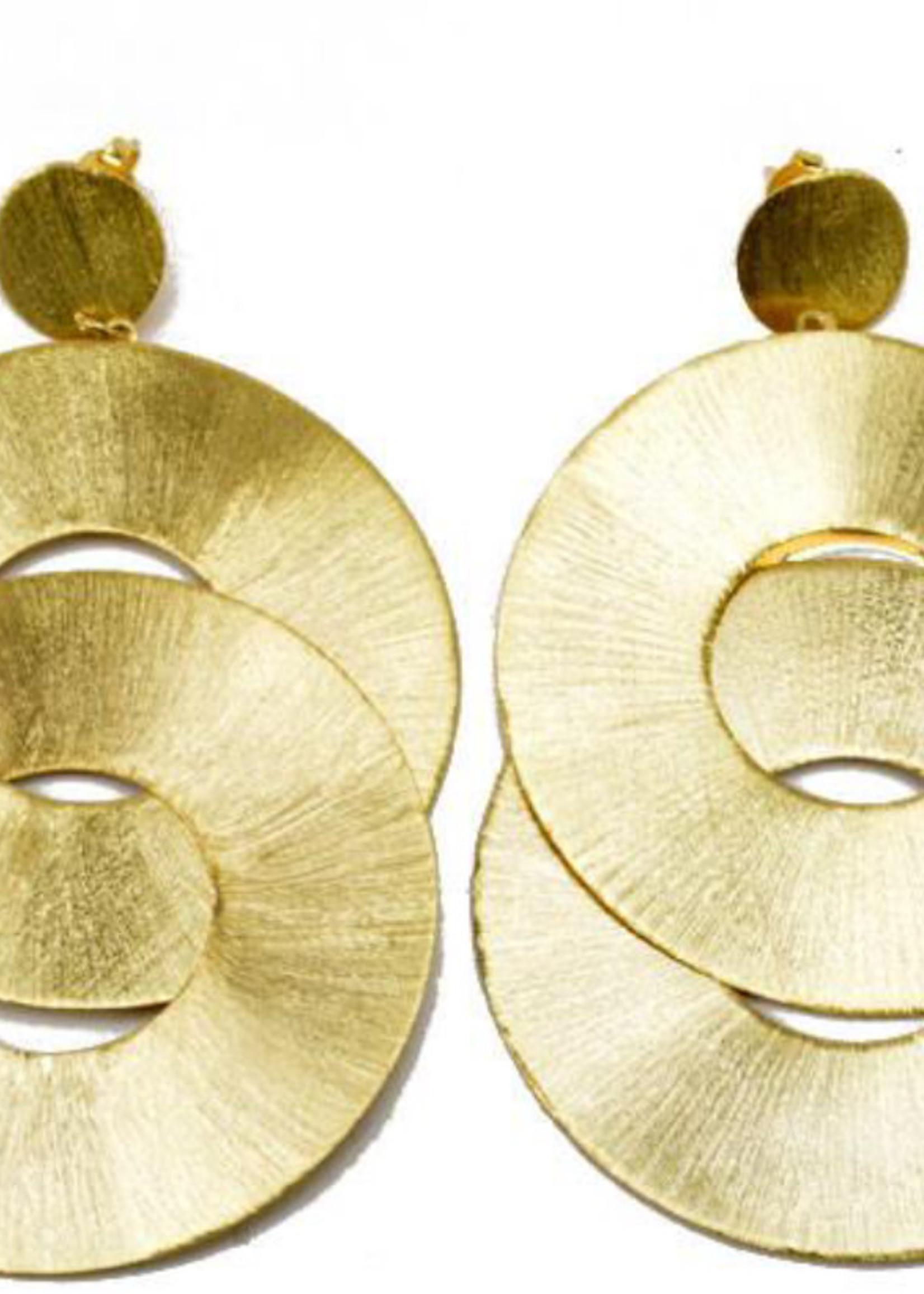 sheila fajil Devon Earring Gold