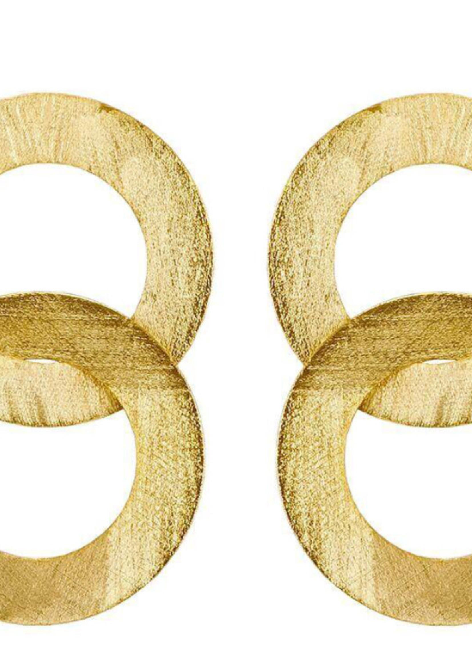 sheila fajil Greta Earring Gold
