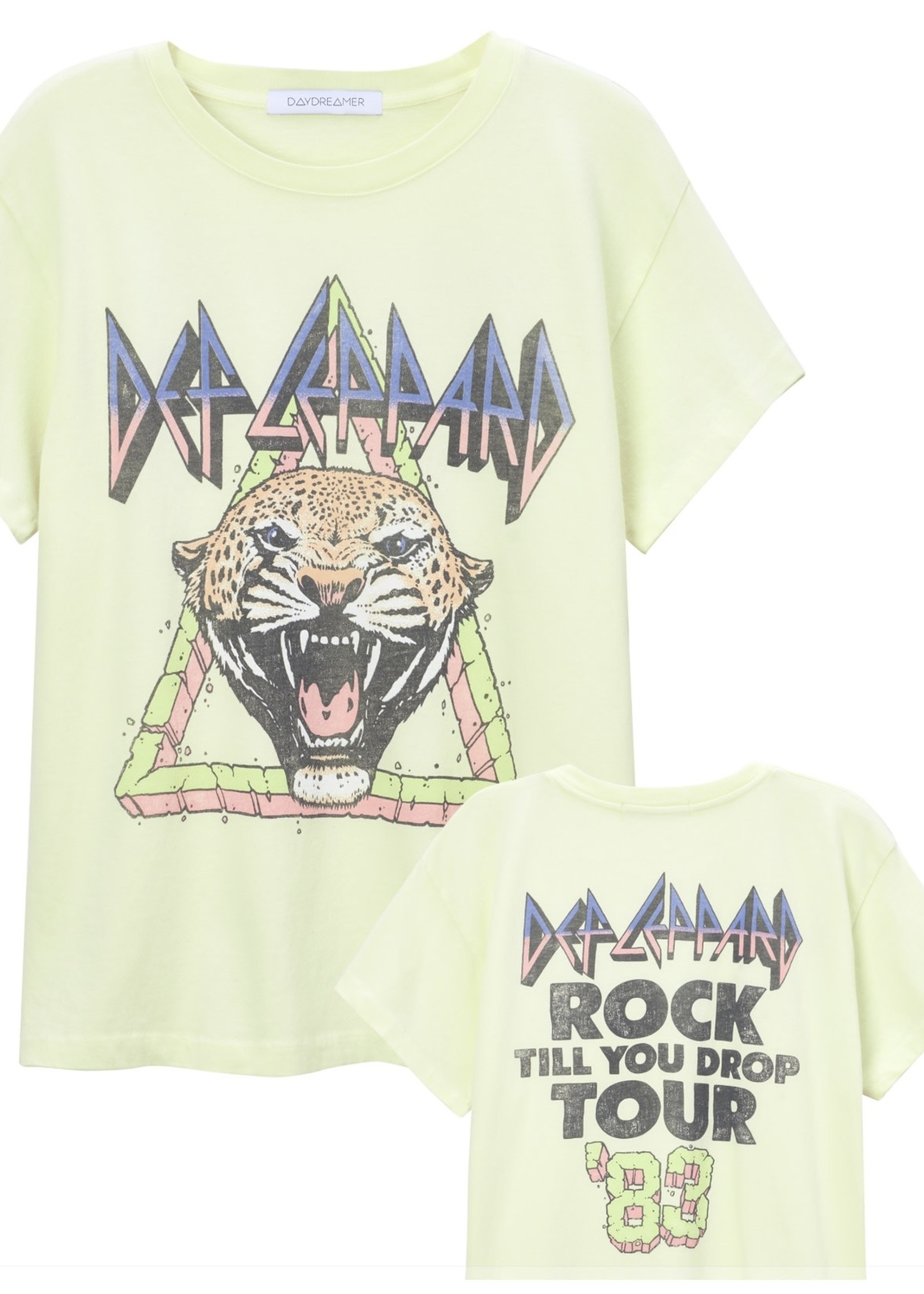 DayDreamer Def Leppard Rock Til You Drop Tee