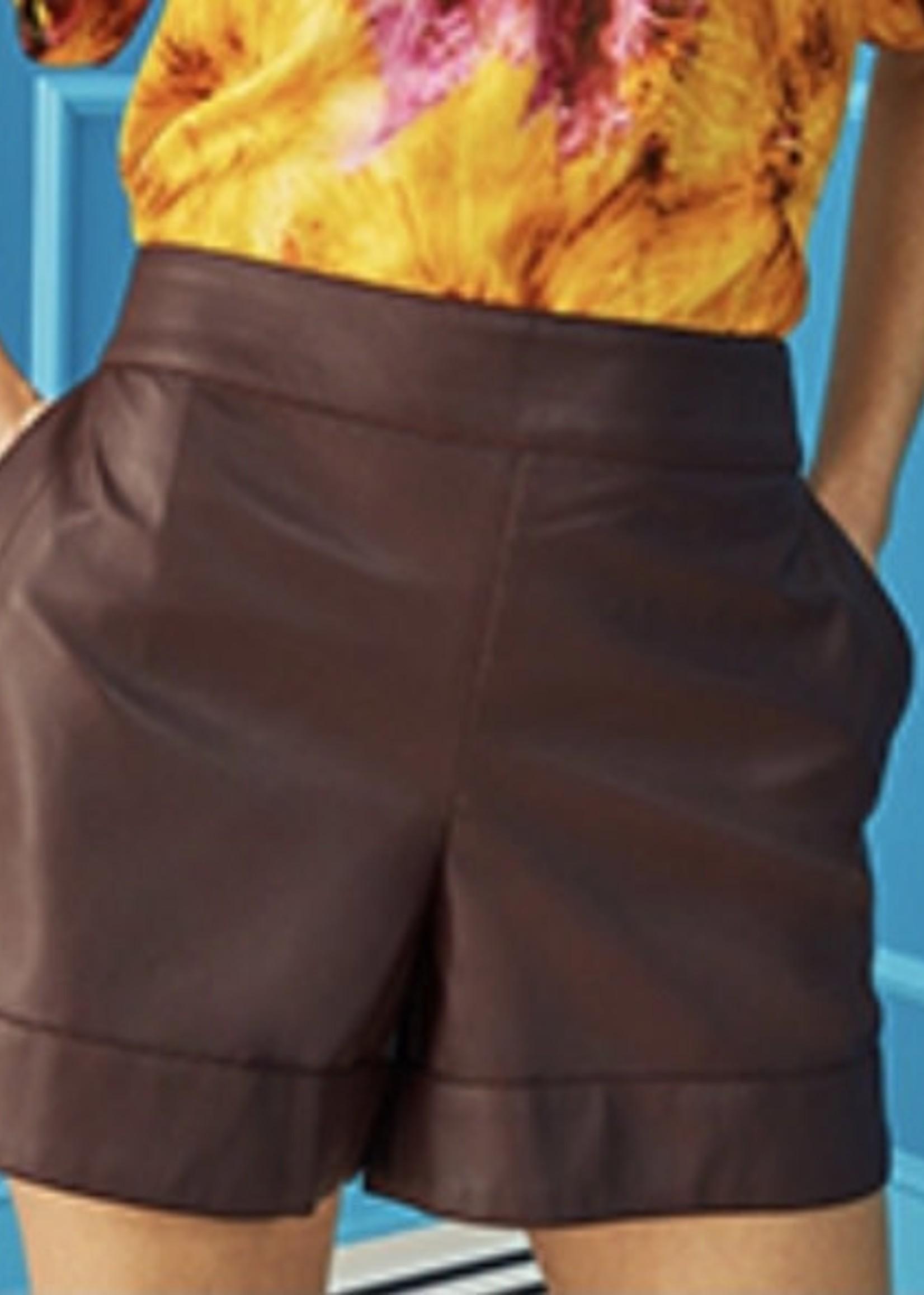 Marie Oliver Mia Vegan Leather Shorts