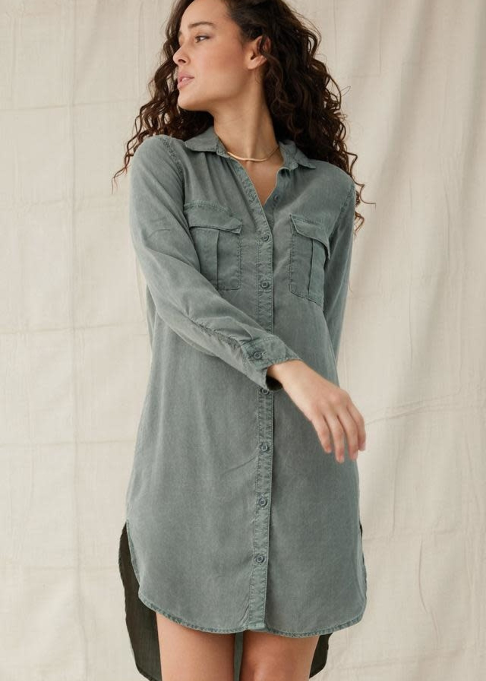 Bella Dahl Two Pocket Shirt Dress