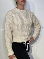 525 America Cable Lacing sweater