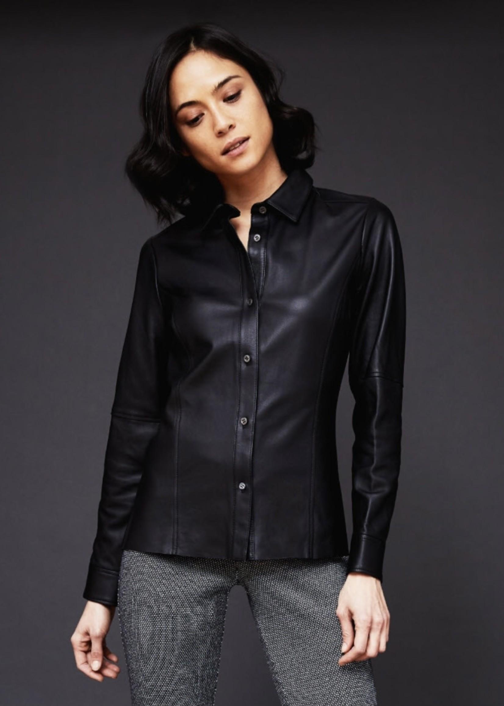 ECRU Slim Leather Shirt