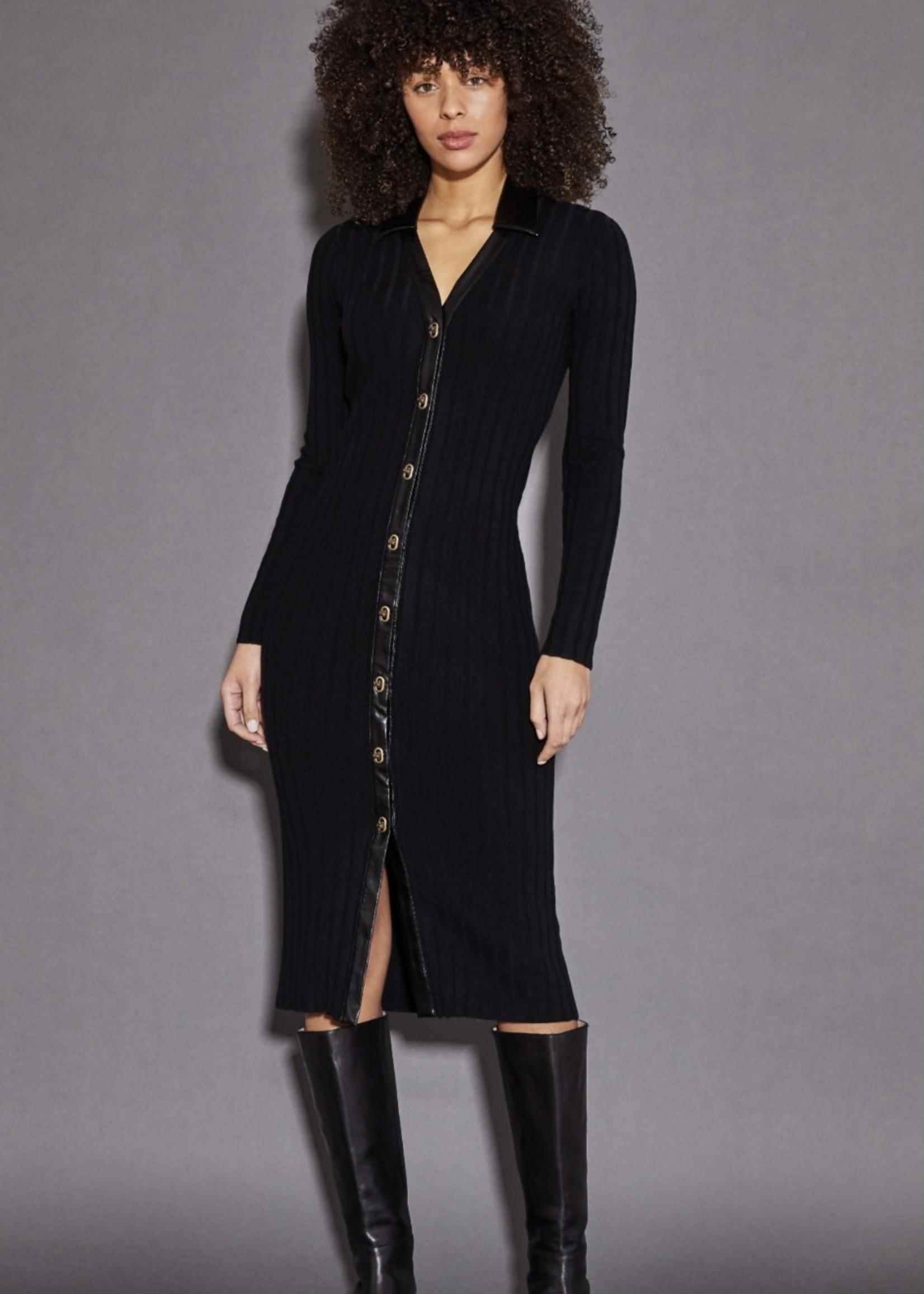 ECRU Rib Sweater Dress