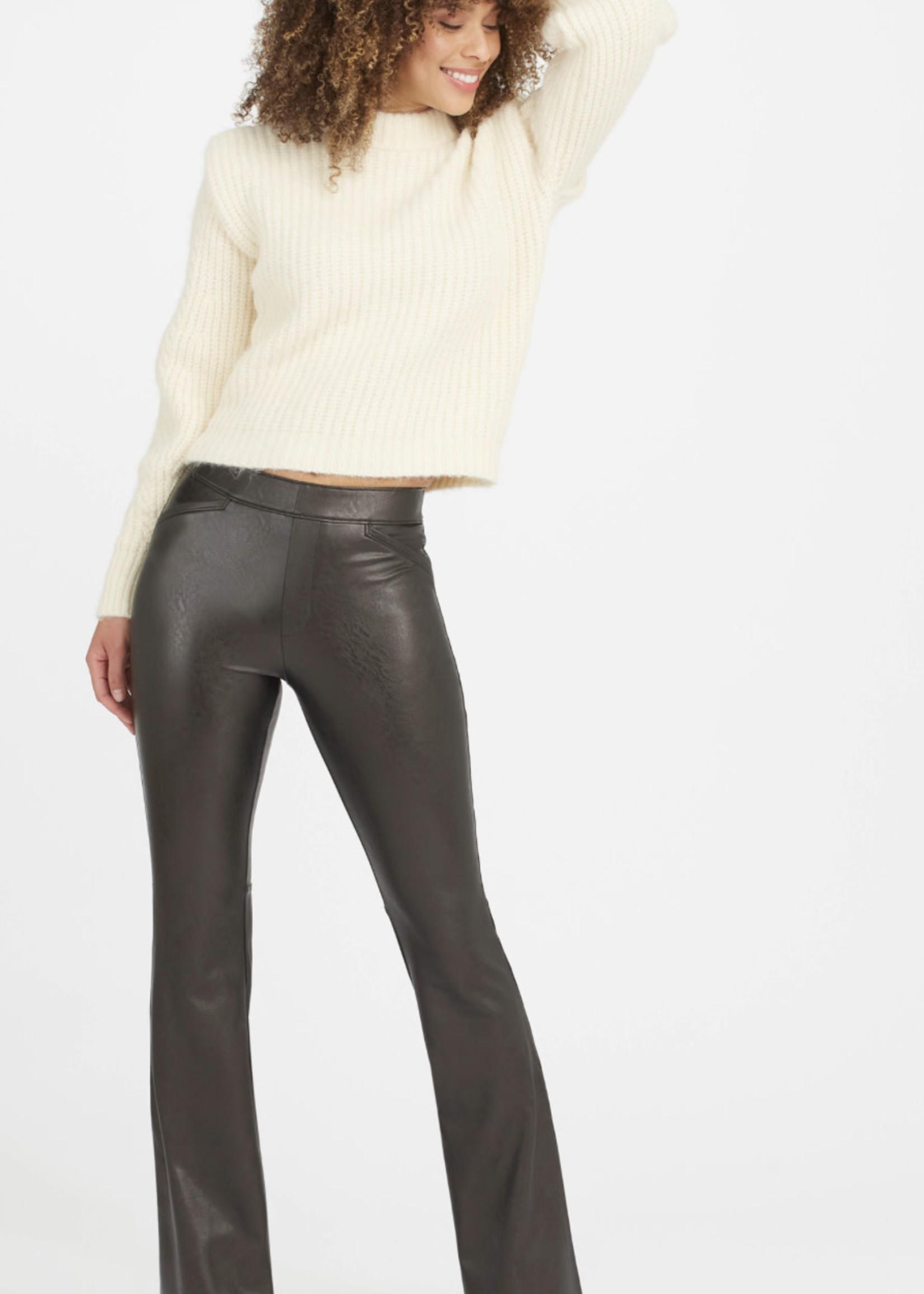 Spanx Leather like Flare Pant