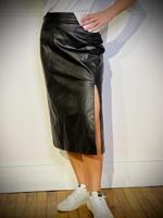 Spanx Leather Like Midi Skirt