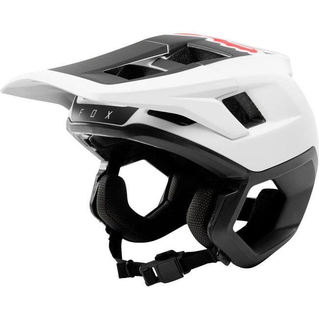 Fox Dropframe Helmet med White/Black