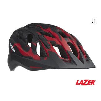LAZER Lazer J1 Helmet 52-56 Matte Red Flames