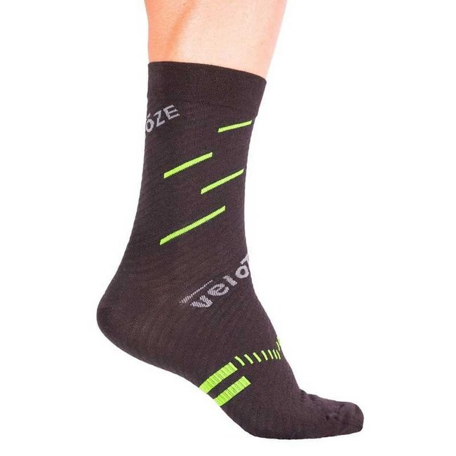 VeloToze Socks Black/Yellow S/M