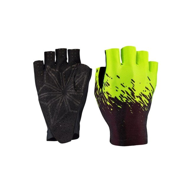 Supacaz Half Finger Glove L Black/Neon Yellow