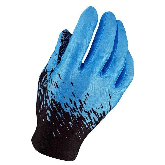 Supacaz Full Finger Gloves Neon Blue/Black XL