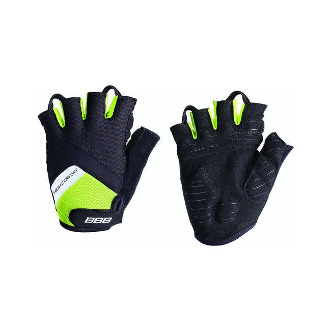 BBB High Comfort Fingerless Gloves BLACK/NEON XXL
