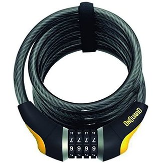 ON GUARD On Guard Doberman 8031 Coil Combo Cable Lock 185cmx12mm
