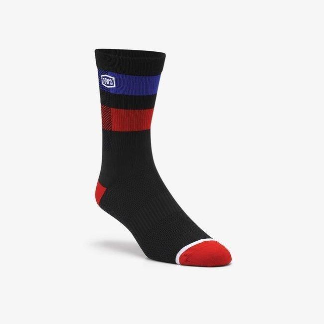 100% Flow Performance Sock Black/Blue