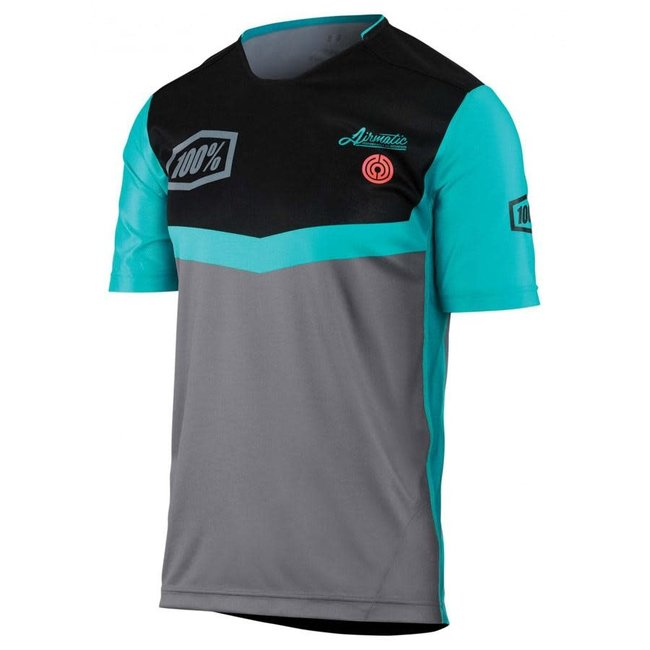 100% Airmatic SS Jersey Fast Times Grey Small