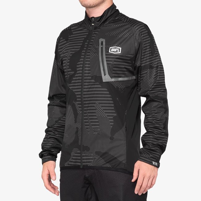 100% Hydromatic Jacket XL Black Camo
