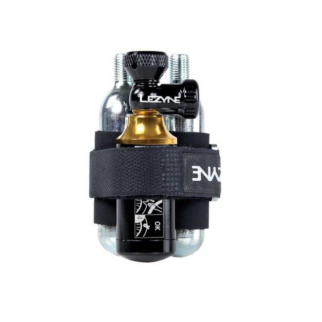 LEZYNE Y13 TUBELESS CO2 BLASTER - BLACK/GLD 2x 20g inc BLACK/GOLD