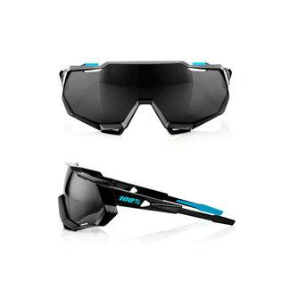 100% 100% Speedtrap Shiny Black Graphic/Black Mirror Lens