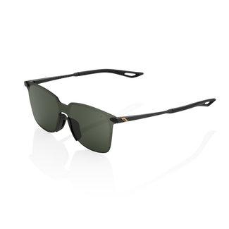 100% 100% Legere Square Glasses Matte Black-Grey Lens