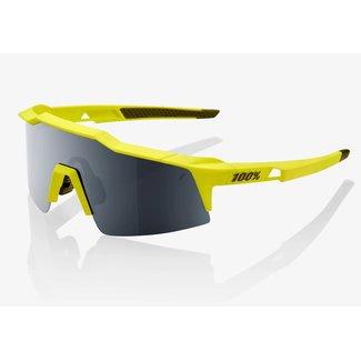 100% 100% Speedcraft Sunglass Short Lens Black/Yellow