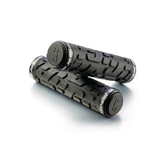 JET BLACK Jetblack Rivet Lock on Grips Black/Black Rings