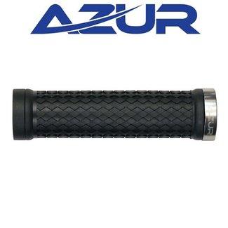 AZUR Azur Atom Lock On Grips Black/Silver
