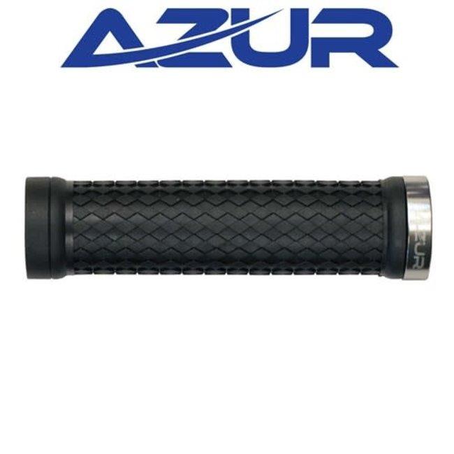 Azur Atom Lock On Grips Black/Silver
