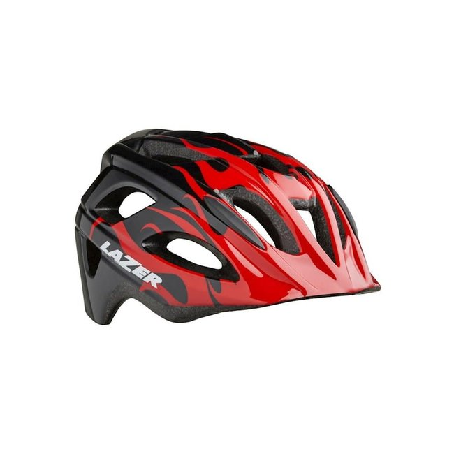 Lazer Nutz Helmet Red Flames