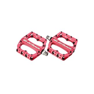 JET BLACK Jetblack Superlight MTB Pedals Low Profile - Red Sealed Bearings Cromo Axle