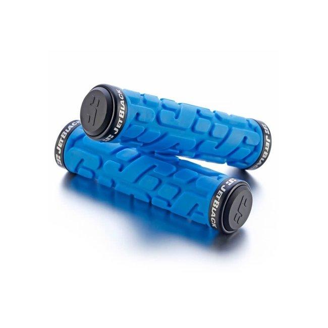 Jet Black RivetLock On Grips BLUE/BLACK RINGS