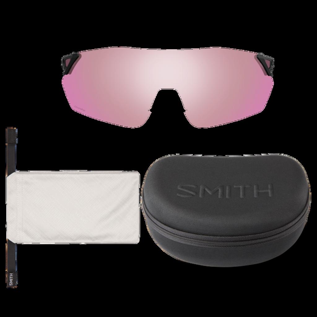 Smith optics Reverb Matte Black ChromaPop Platinum Mirror ChromaPop Contrast Rose