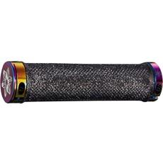 Supacaz Supacaz, Diamond Kush, Grips, 135mm, Black/Oil Slick ringz, Pair