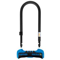 Oxford Shackle 14 DUO U-Lock 320mm x 177mm Blue