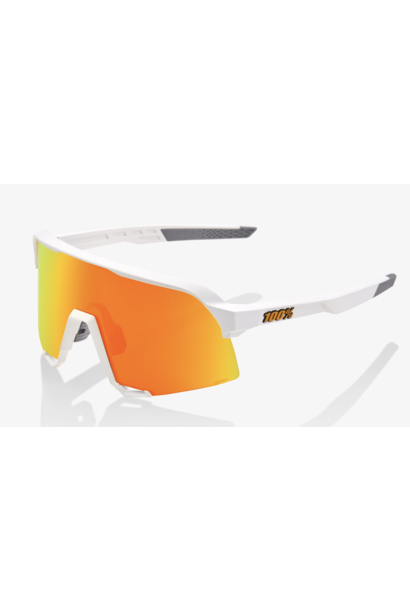 S3 Sunglasses, Soft Tact White frame - HiER Red Multilayer Mirror lensP