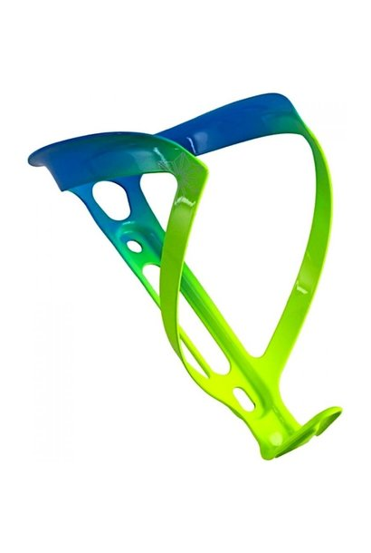 Fly Alloy Bottle Cage, Neon Yellow/Neon Blue