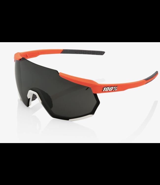 100% Racetrap Sunglasses, Soft Tact Oxyfire frame - Black Mirror Lens