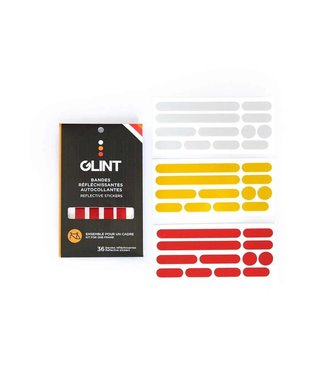 GLINT Reflective Reflective, Frame Stickers 3 Colors, White/Yellow/Red, Kit