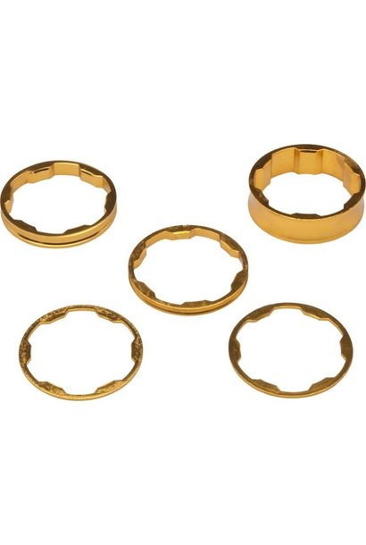 Promax Headset Spacer Kit - 1-1/8'' - Gold