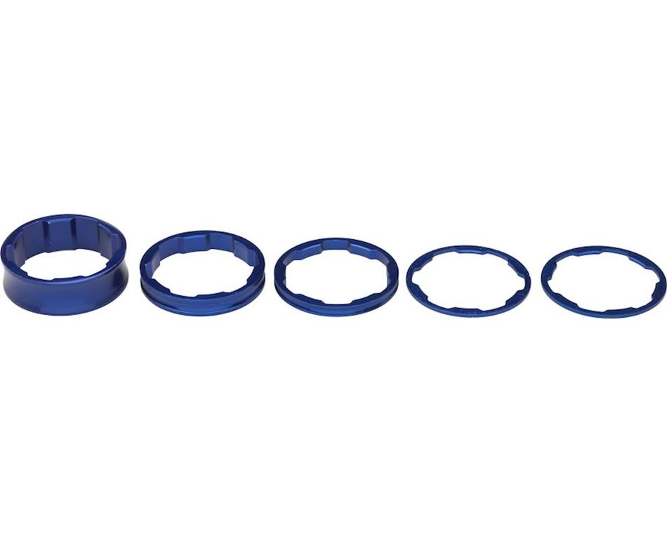 Promax Headset Spacer Kit - 1-1/8'' - Blue-1