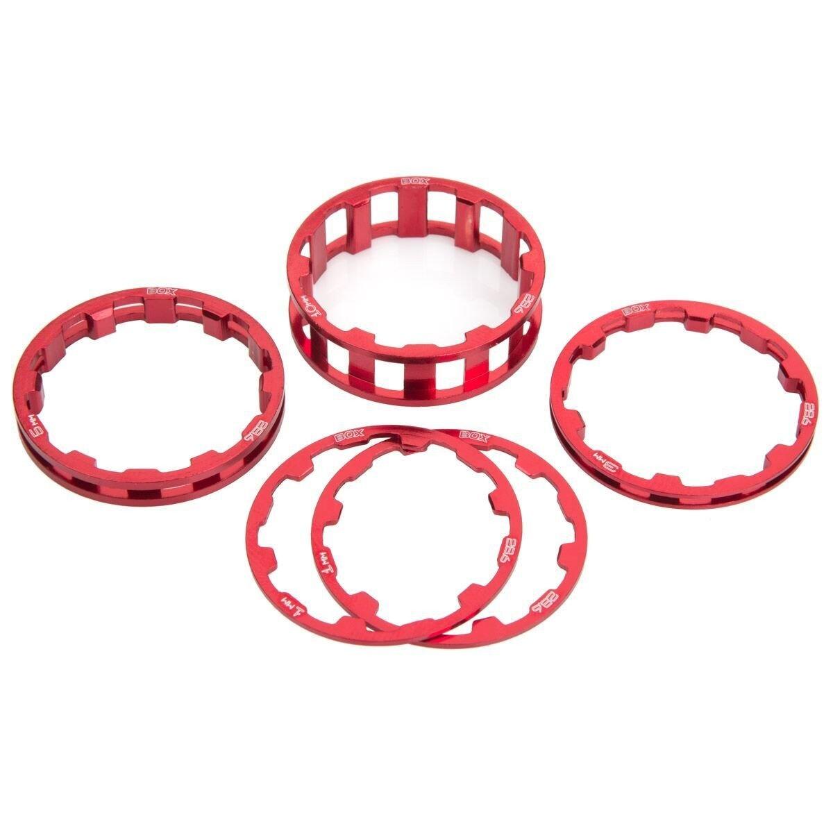 Box Zero Headset Spacer Kit - 1-1/8'' - Red-1