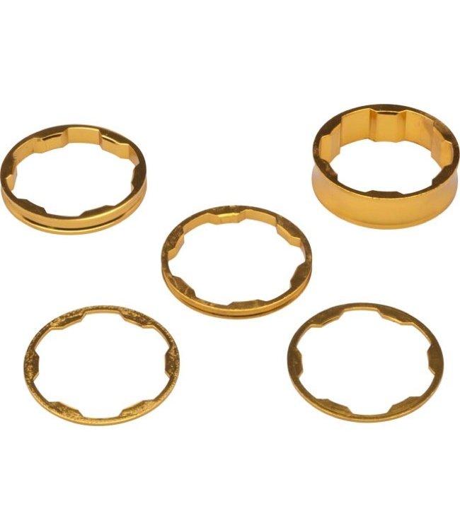 Box Zero Headset Spacer Kit - 1-1/8'' - Gold