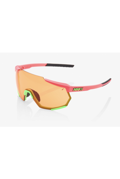 Racetrap Sunglasses, Matte Washed Out Neon Pink frame - Persimmon Lens