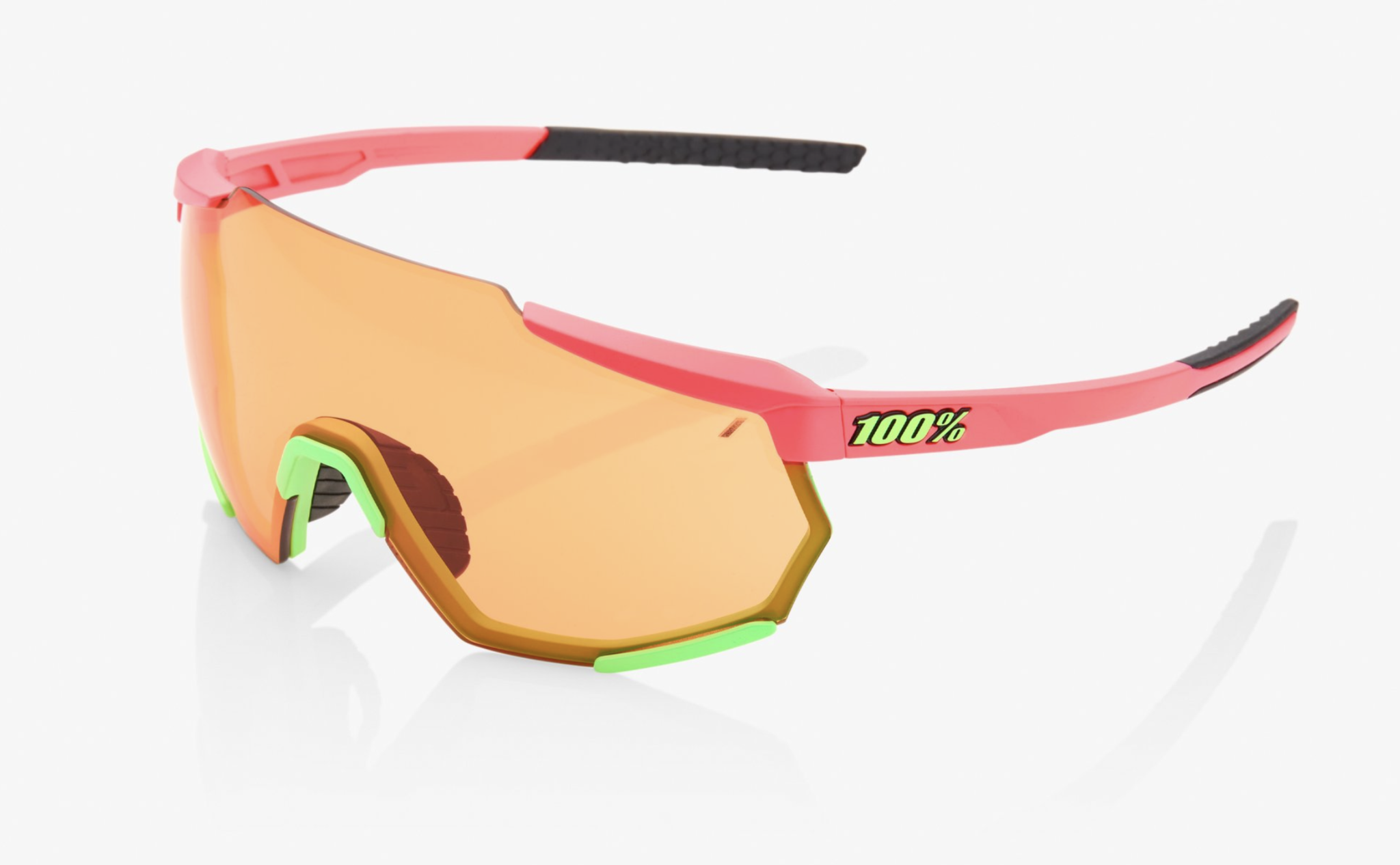 Racetrap Sunglasses, Matte Washed Out Neon Pink frame - Persimmon Lens-1