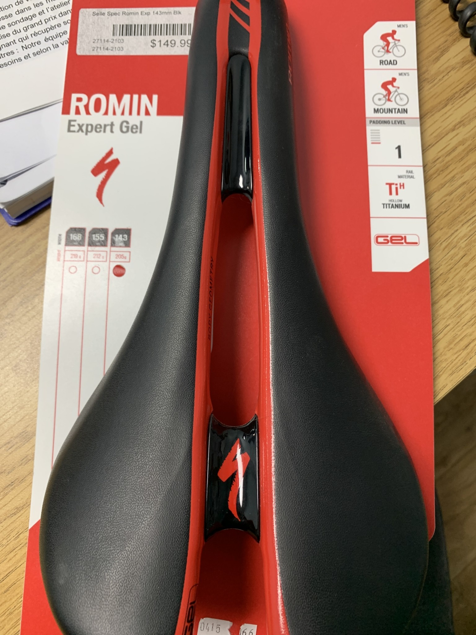 ROMIN EXPERT GEL SADDLE - Black 143-1